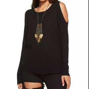 Chaser Top peek a boo Small Black NWT A28